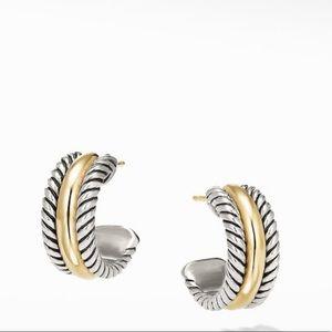 David Yurman Cable Hoop Earrings with 14K Gold